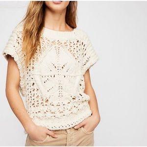 NWT Free People Crochet Top